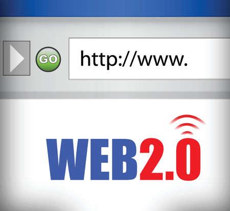 web browser: Internet web 2.0 browser illustration design graph Illustration