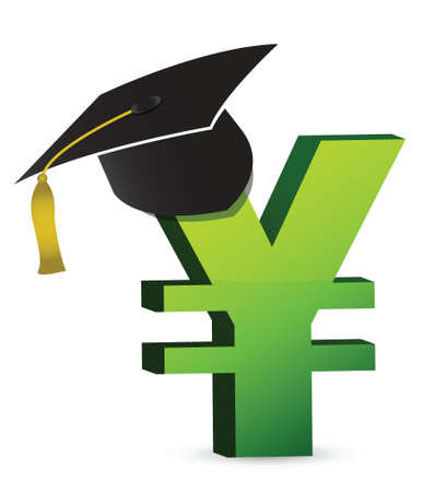 prospect: education cost in yens illustration design over a white background