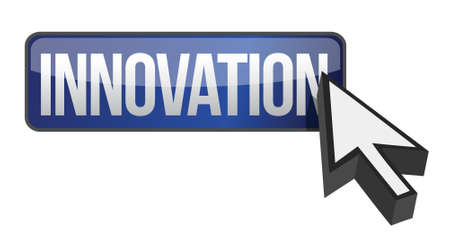 new addition: innovation and cursor illustration design over a white background