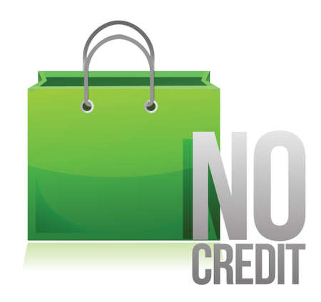 no credit shopping card illustration design over a white background