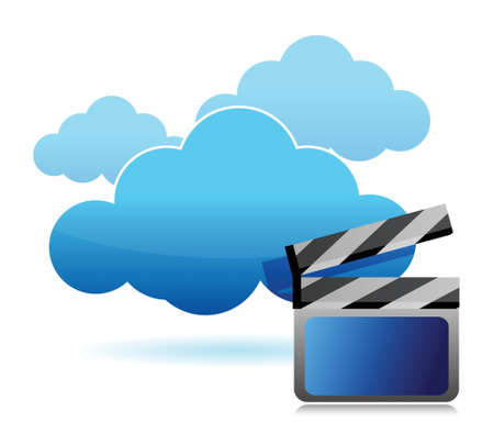 media storage cloud computing illustration design over white Stock Vector - 16493595