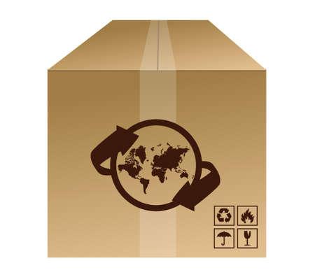 world box shipment concept illustration design over white Stock Vector - 16493594