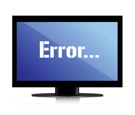 error message on a monitor illustration design over white Vector