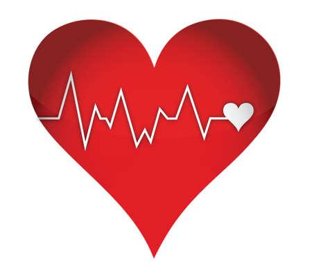 lifeline heart illustration design over a white background Stock Vector - 16513190
