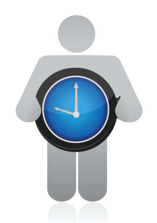 icon holding a watch illustration over white Stock Vector - 16513024