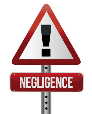 dangerous work: negligence sign illustration design over a white background Illustration