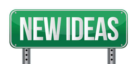 good idea: new ideas illustration design over a white background