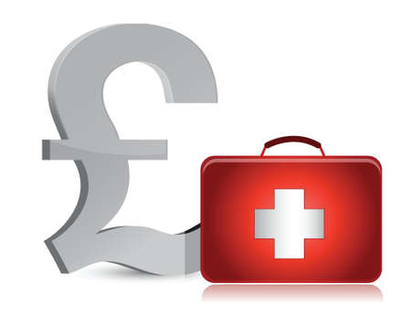 pound and medical kit illustration design over white Stock Vector - 16513036
