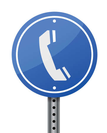 closet communication: phone sign illustration design over a white background Illustration