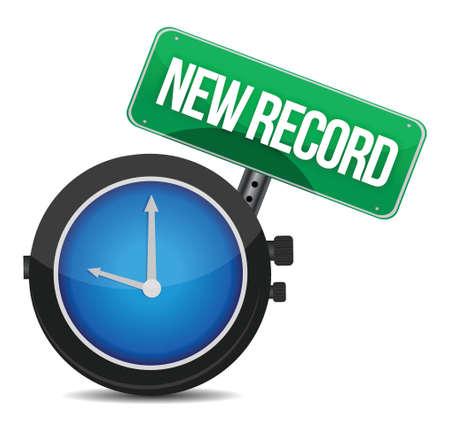 quicker: new record watch illustration design over white