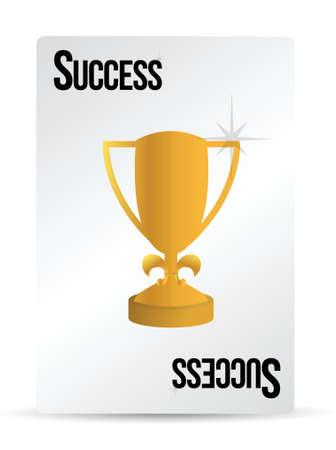 success playing card illustration design over white Stock Vector - 16513204