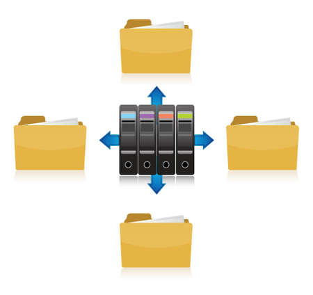 folder info storage illustration design over a white background