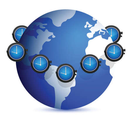 time around the globe illustration design over white Stock Vector - 16513245