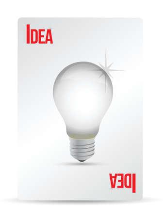 idea lightbulb playing card illustration design over white Stock Vector - 16513207
