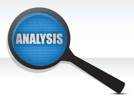 Analysis under research illustration design over white Stock Illustratie