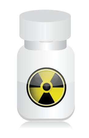 substances: radioactive product illustration design over a white background