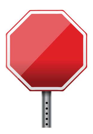白空の一時停止の標識のイラスト デザイン  イラスト・ベクター素材