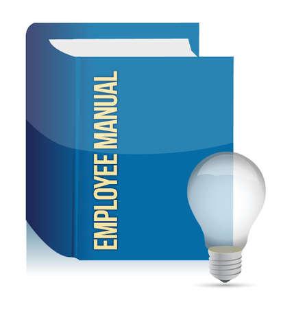 reference book: manual del empleado libro, ilustraci�n, dise�o, encima, blanco Vectores