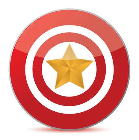 target the stars concept illustration design over white Stock Vector - 16549392