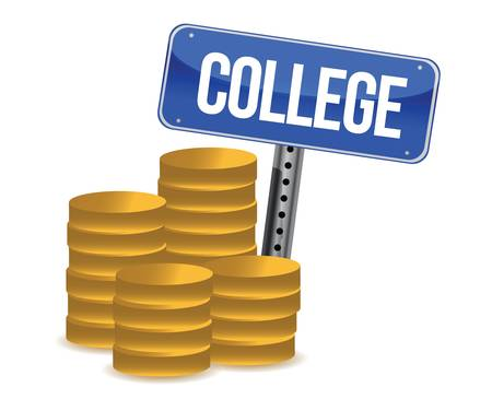 college savings illustration design over a white background Vector