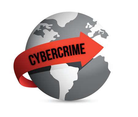 cyber defence: cybercrime globe illustration design over a white background Illustration