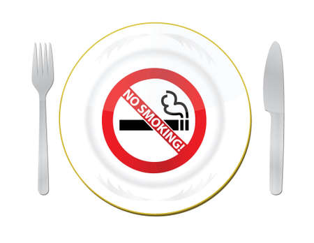 no smoking in this area illustration design over white Stock Vector - 16571470
