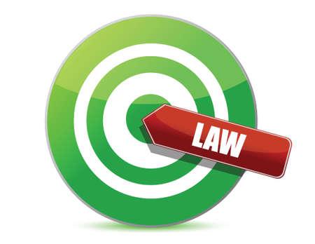 perfection: target law illustration design over white background Illustration
