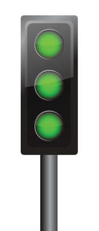 all lights in green illustration design traffic sign