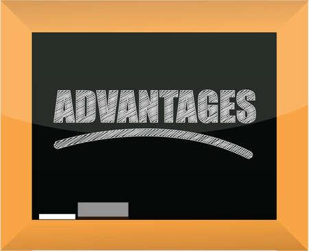 word advantages written on a blackboard illustration design Stock Vector - 16564225