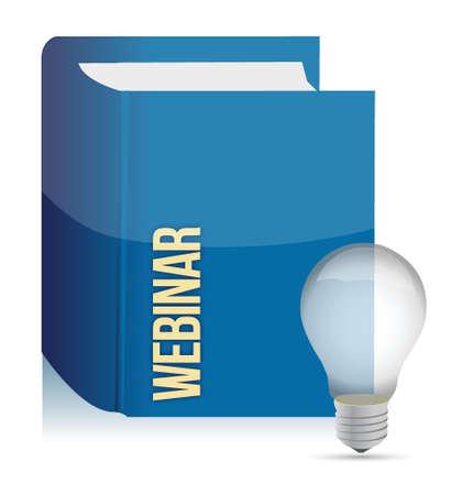 webinar book illustration design over a white background design Vector