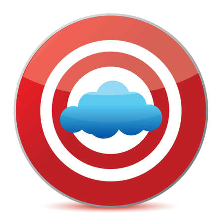 target cloud computing concept illustration design over white Stock Vector - 16564117