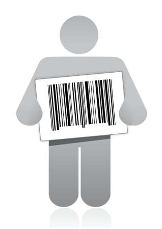 upc barcode and icon illustration design over a white background Stock Vector - 16564217