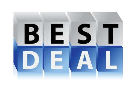 hot announcement: best deal cubes illustration design over a white background Illustration