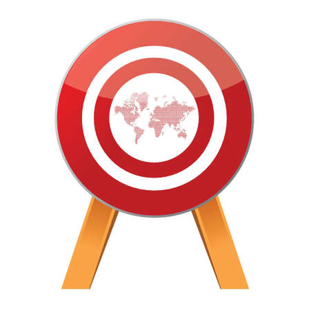 target the world illustration design over a white background Stock Vector - 16583285