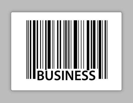 business upc code illustration design over white Illustration