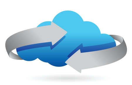 cloud: cloud computing on the move concept illustration design Illustration