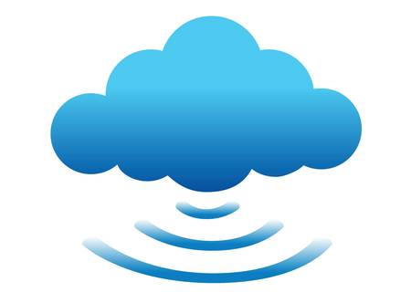 repeater: cloud computing connected illustration design over white