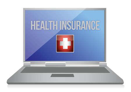 het kopen van online ziektekostenverzekering concept illustratie ontwerp Vector Illustratie
