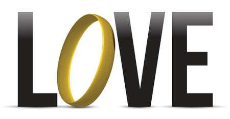 love sign sign illustration design over a white background design