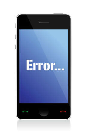error message on phone illustration design over a white background Stock Vector - 16583182