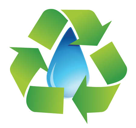 recycle water symbol illustration design over white Stock Vector - 16583294