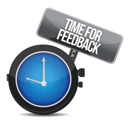 time for feedback illustration design over white Vector