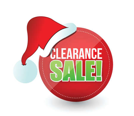 christmas savings: christmas sale sign illustration design over white Illustration