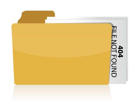 files not found error illustration design over white