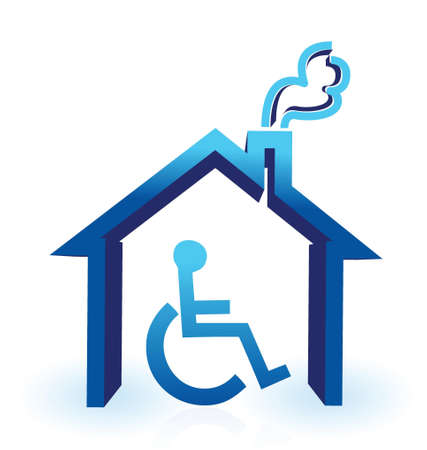inability: handicap house illustration design over a white background Illustration