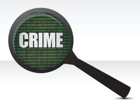 computer crime: crime under investigation illustration design over white