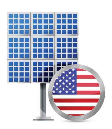 US solar panel illustration design over white 向量圖像