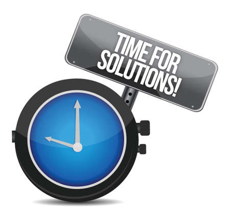 time for solutions concept illustration design over white Stock Vector - 16600952
