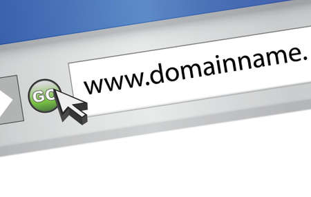 http: domain name browser search illustration graphic design