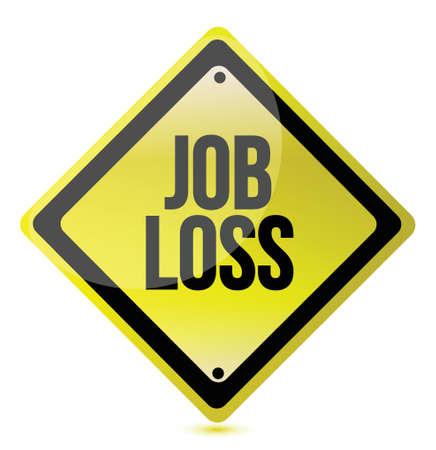 downsizing: job loss sign illustration design over a white background